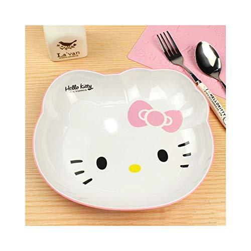 XJZxX Dekoration Teller Snacks Obstschale Dessertschale Gerichte Eisbecher Pudding Box Küche Bar Werkzeuge Cartoon Hello Kitty (Farbe : Rosa) (Hello Kitty Snacks)