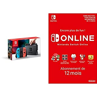 Console Nintendo Switch avec Joy-Con : rouge néon/bleu néon + Switch Online 12 Mois [Download Code] (B07M64JMMX) | Amazon price tracker / tracking, Amazon price history charts, Amazon price watches, Amazon price drop alerts