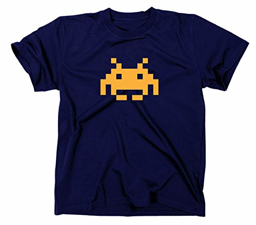 Men's or Ladies Space Invader T-shirt - 5 Colours - S to XXL