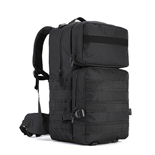 YAAGLE 55 L outdoor Rucksack Gepäck militärisch Bersteigen Taschen Reisetasche Combo Pack wasserdicht Schultertasche-Tarnung 1 schwarz