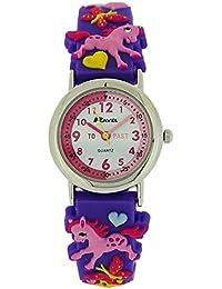 Ravel Time Teacher Girls 3D Love My Pony Purple Rubber Strap Watch R1513.70