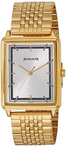Sonata Essentials Analog Silver Dial Men's Watch-77084YM02 image