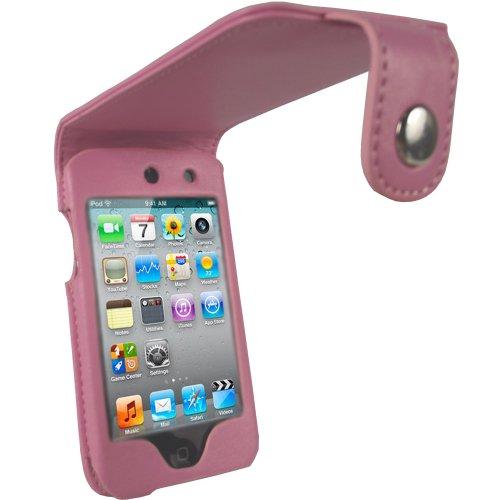 igadgitz PU Leder Tasche Schutzhülle Etui Case Hülle in Pink Rosa für Apple iPod Touch 4G 4. Gen Generation 8gb 32gb & 64gb + abnehmbare Gürtelbefestigung + Display Schutzfolie (32 Ipod 4 Gen Gb)