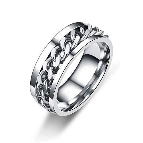WL Ring damen Ringzubehör Silber Edelstahl Herren Edelstahl Swivel Ring Herren- Und Damenring -