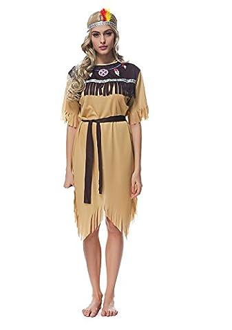 Indianerin Kostüm Damen Indianer-Kostüm Wilder sexy Prinzessin Kleid Faschings-Kostüm