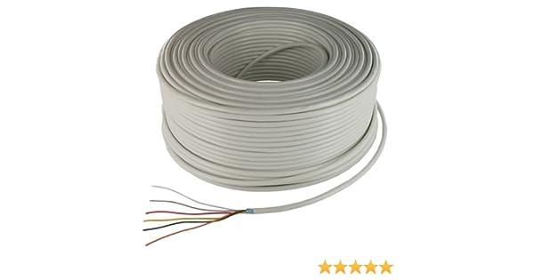 6 x 0,22 mm couronne de 100 m/ètres cable alarme souple