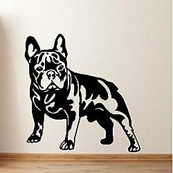 Kreative Wandaufkleber Hundehaus geschnitzt Kreative Wandaufkleber, schwarz 57x60cm