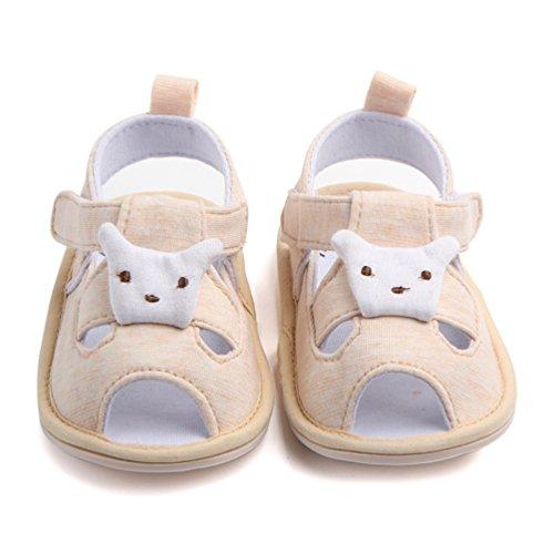 Dooxi Bébé Garçons Filles Premier Pas Sandales Eté Creux Chaussures de dessin animé Jaune