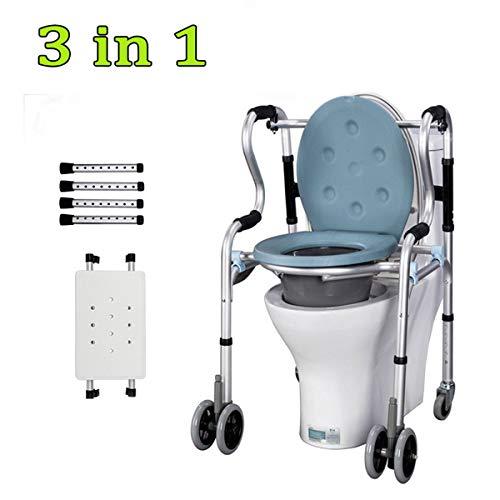 Fahrbar Wc-stuhl Geeignet Deckel Toilettenstuhl Mit Eingeschränkter Mobilität Für Ältere Menschen Und Personen,wheel,seat