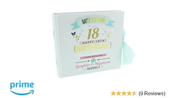 "Happy 18th Birthday Photo Album Holds 80 6/"" x 4/"" photos FL30018"