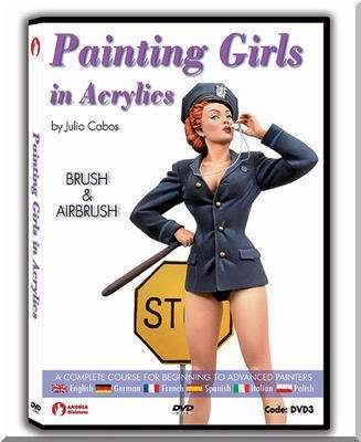 Painting Girls in Acrylics Brush and Airbrush by Julio Cabos - Airbrush Dvd