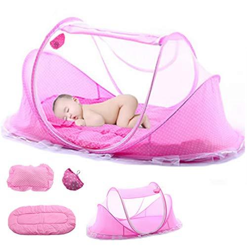 YxFlower Portable Krippen Moskitonetz Baby Reisebett Insektenschutz für 0-36 Monat Baby - 110x65x60cm
