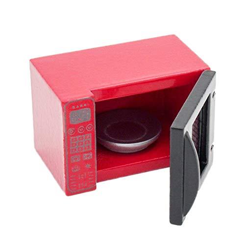 Odoria 1/12 Miniatura Horno Microondas Rojo Cocina