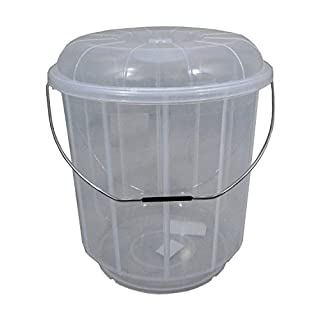 20L Litre Plastic Bucket With Lid Carry Handle Ideal for Pet Food / Animal Feed / Wild Bird Seed / Grain / Corn / Storage