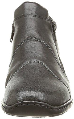 Rieker L3892-00, Bottes Classiques Femme Noir