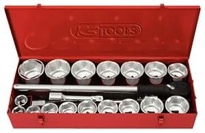 KS Tools 911.0822 Coffret de douilles 6 pans - 1'' - CHROMEplus - 22 pcs