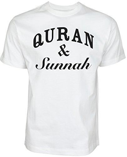 Quran and Sunnah   ISLAMISCHE STREETWEAR KLEIDUNG FÜR MUSLIME T SHIRT BEDRUCK OUTDOOR ISLAM FASHION (XXL, Weiß)