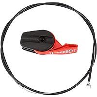 ViaGasaFamido Cortacésped Cable del Acelerador Universal 65 '' Kit De Reemplazo del Control del Interruptor del Cable del Acelerador Juego De Manijas para Cortacéspedes De Jardín(Rojo)