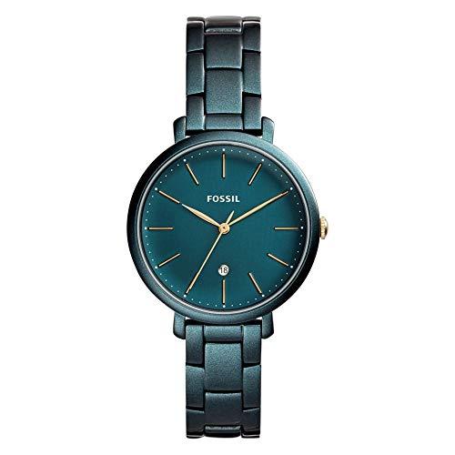 Fossil Damen Analog Quarz Uhr mit Edelstahl Armband ES4409