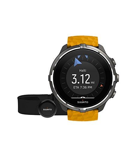 Suunto - Spartan Sport Wrist HR Baro - SS050002000 - Reloj GPS para Atletas Multideporte + Cinturón Frecuencia Cardiaca - Ámbar - Talla Única