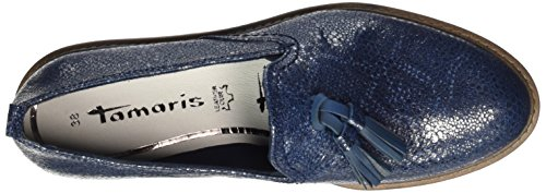 Tamaris 24300, Mocassini Donna Blu (Navy Metallic)