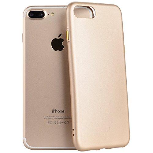 Yokata für iPhone 7 Hülle Silikon Weich TPU Schutz Handyhülle Schutzhülle Clear Case Backcover Bumper Protective Cover - Sapphire Blau + 1 x Kapazitive Feder Gold