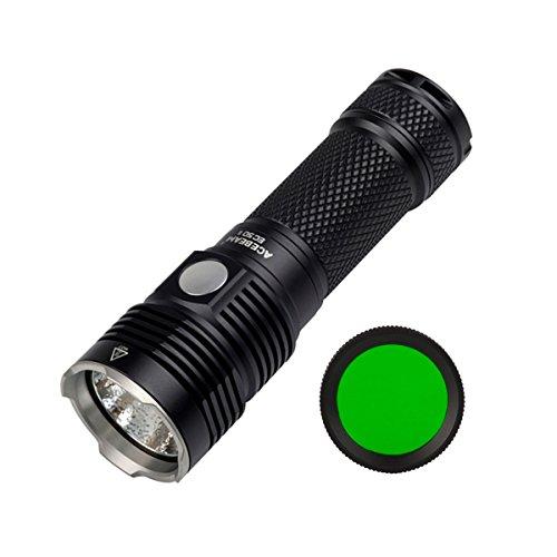 Preisvergleich Produktbild AceBeam EC50 Gen II Cree XHP70 6000K Kaltes Weiß LED 3000 Lumen mit einem 5000mAh 26650 Akku USB Aufladbar Taschenlampe Inkl. Grün Filter