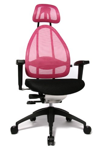 Topstar Open Art 2010 ergonomischer Bürostuhl, Schreibtischstuhl, inkl. höhenverstellbare Armlehnen, Rückenlehne und Kopfstütze, Stoff...