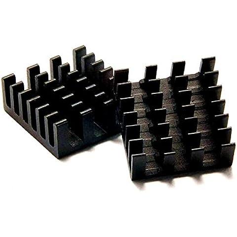 5pcs Lot 14* 14* 6mm anodizado de aluminio disipador para morir de chip Router enfriador