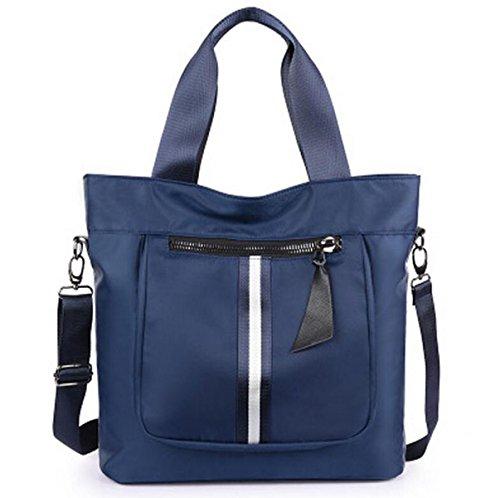 Spalla Panno Ms. Grande Borsa Di Nylon Viaggio Tote Borsa Di Tela Oxford Borse Messenger Bag Blue