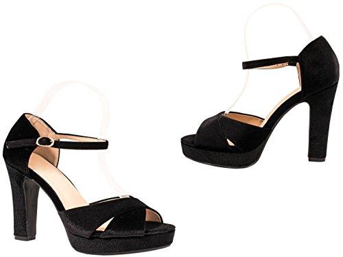 Elara - Scarpe con cinturino alla caviglia Donna Nero