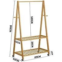 SL&VE Suelo Perchero, Dormitorio Simple Percha de colgar De madera sólida Moderno Perchero -A