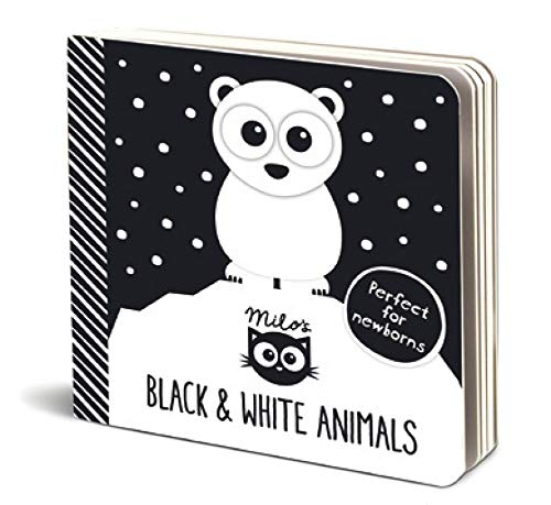 Milo's Black and White  Animals - The Perfect High Contrast Book for Newborns to Build their Eyesight (Milo Books)