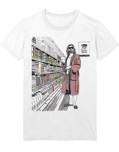 HYPSHRT Herren T-Shirt The Big Lebowski Supermarket C000305 Weiß L -