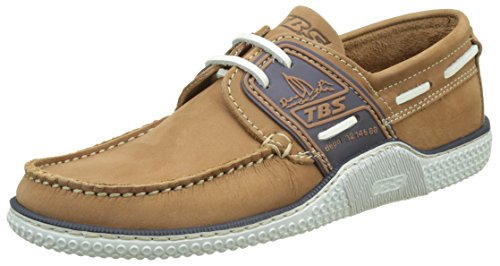 tbs-technisynthese-mens-globek-d8-boat-shoes-marron-datte-blanc-9-uk