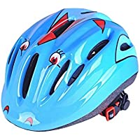 OVVO Casco para Bicicleta Niños al Aire Libre Deportes Cascos de protección Niños Cómodo Casco de Ciclismo Ligero (Azul)