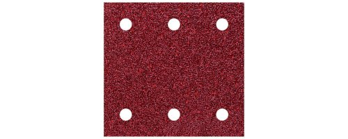 Wolfcraft 1761000-10 hojas de lijar adhesivas, corindón grano 60,120,240, perforadas 100 x 115 mm