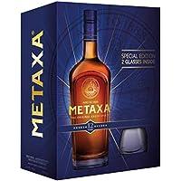 Metaxa 12 Sterne im Geschenkset mit 2 Gläsern (1 x 0.7 l)
