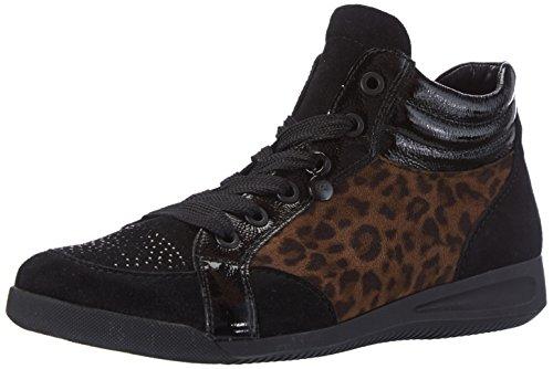 ara Rom, Sneaker alta donna, Nero (Schwarz (schwarz,moro -06)), 38