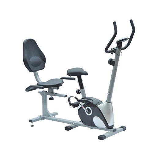 Homcom® 2 in 1 Heimtrainer Liegeergometer Ergometer Fahrradtrainer Hometrainer LED Display