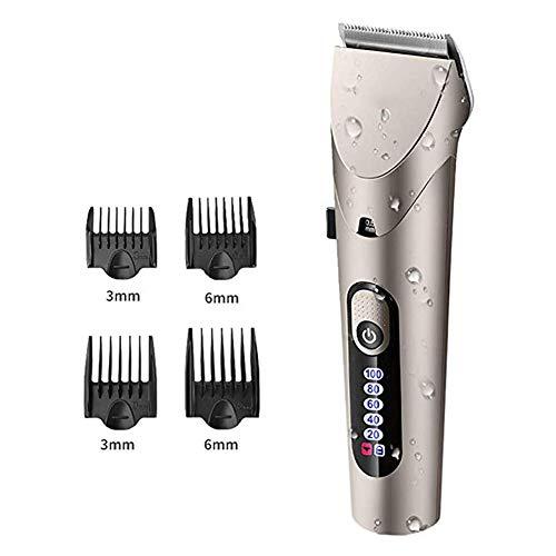 Multifunktions-Haarschneidemaschine Schnurlose Haarschneidemaschine Haarschneider Bartschneider Rasierer Detail Trimmer Haarschneide-Set für Männer Wasserdicht Mit LED-Anzeige