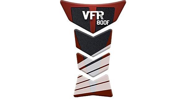 VFR800F VFR 800 F RESINATO EFFETTO 3D compatibile con Honda VFR 800F Black PARASERBATOIO ADESIVO