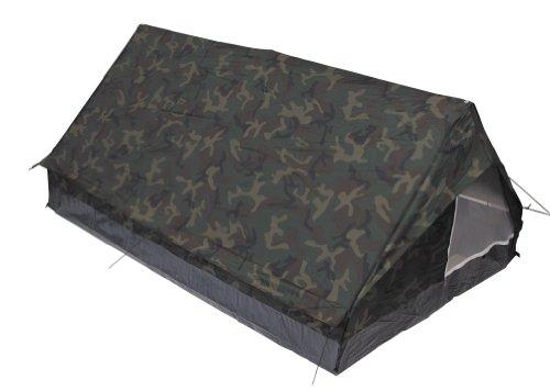 MFH Minipack BW - Tienda de campaña para 2 personas militar (mosquitera integrada) woodland Talla:213 x137 x 97 cm