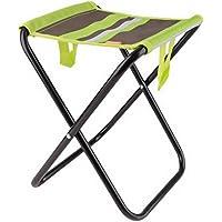 portatile pieghevole sedia da campeggio pesca Sgabello Campeggio Sgabello Pieghevole mobili, Green, 26x24x30cm