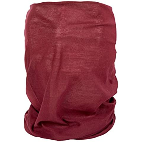 Foulard fazzoletto da collo sciarpa funzionale multiuso scaldacollo tubolare leggero e morbido estate primavera autunno inverno loop anello ragazze colorati stola accessorio moderno lifestyle, Multituch MF-174-221:MF-209 rosso bordeaux