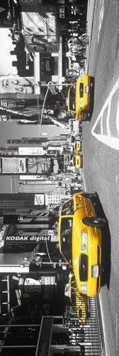 Riesen-Tür-POSTER, New York-gelbe Taxis Times Square Tür-POSTER (158 x 53 cm: ca. 62 x 53.34 es cm), Design
