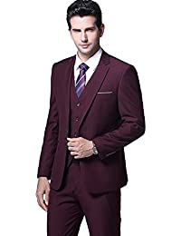 Primeday Costume homme Un Boutons Mode Slim fit Trois Pièces Elégant Business  Mariage 64481449a3c
