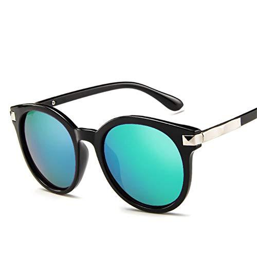 GJYANJING Sonnenbrille Neue Ankunft Runde Sonnenbrille Retro Männer FrauenSonnenbrille Vintage Beschichtung Gespiegelt Sonnenbrille Uv400