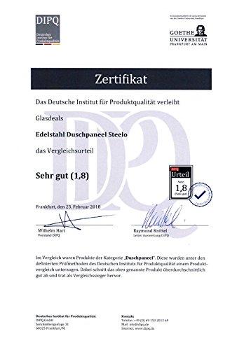 Glasdeals – Edelstahl Duschpaneel Steelo - 6