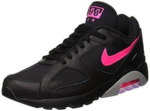 Nike Herren Air Max 180 Gymnastikschuhe, Schwarz (Black/Pink Blast/Wolf Grey 001), 42.5 EU -